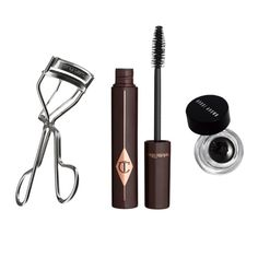 """Make Your Eyes Pop - """"Eyeliner and mascara are two great ways to bring out your eyes on camera. My go-tos are Bobbi Brown's gel eyeliner in Black Ink, Charlotte Tilbury's Full Fat Lashes mascara and my Shu Uemura eyelash curler.""""—Sarah Uslan, makeup artist"""