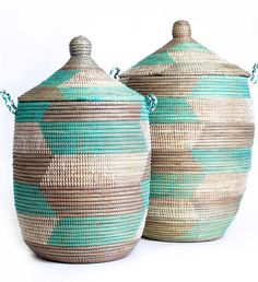 Just arrived! These hand-woven baskets from Senegal are ideal for laundry and can last a lifetime.