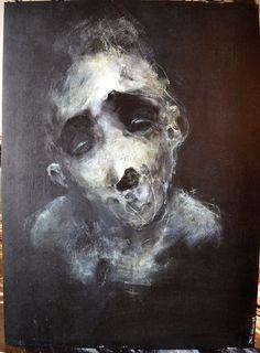Eric Lacombe,. P130 Acrylique, posca sur papier - 48 x 36 cm   Décembre 2012