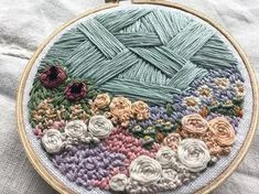 WEBSTA @ ginniejune - This babe is sold ✨ but don't fret--there are more pretty things in the shop, just in time for mamas day 🤰🏻🤰🏼🤰🏿🤰🏽🤰🏾 Sashiko Embroidery, Embroidery Hoop Art, Beaded Embroidery, Cross Stitch Embroidery, Hand Embroidery Patterns Flowers, Hand Embroidery Designs, Embroidery Techniques, Sewing Crafts, Creations