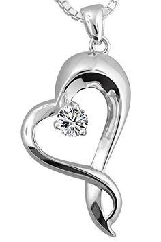 Ladies Silver Double Chain Tri Colour Diamante Heart Love Necklace NEW