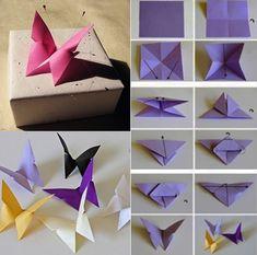 kreative geschenkverpakung mit DIY-Dekoration_bastelidee für schmetterling-dekoration