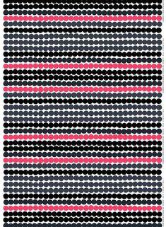 Marimekko Räsymatto Fabric White/Grey/Pink   KIITOSlife