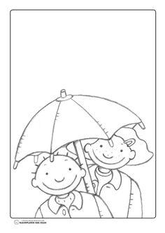 Jules en marie paraplu regen Mandala Coloring Pages, Colouring Pages, Coloring Pages For Kids, Autumn Activities, Preschool Activities, Umbrella Coloring Page, Weather For Kids, Weather Crafts, You Doodle