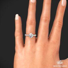 Contemporary Classic Solitaire Engagement Ring 7