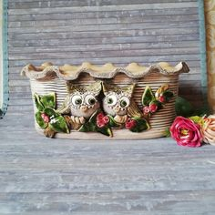 Insect Hotel, Decorative Planters, Flower Planters, Ceramic Clay, Flower Boxes, The Conjuring, Handmade Pottery, Tree Decorations, Beautiful Flowers