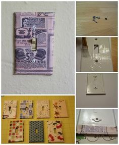 Scrapbook Paper / 19 Adorable Ways To Decorate A Light Switch Cover (via BuzzFeed)