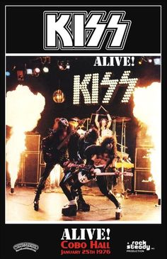 KISS ALIVE Cobo Hall Jan 25th 1976 Stand-Up Display by kiss76
