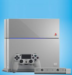 The special 20th anniversary edition of the PlayStation 4 is the same gray as the very first PlayStation console.