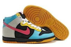 best service 0ea6a 6655d Nike 6.0 Dunk High Shoes Black Blue Grey Pink