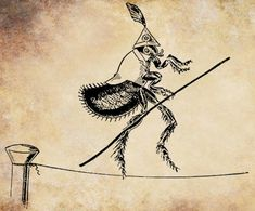 circus flea bug on tightrope png file clip by VellasCollageSheets, $1.00