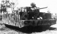 Russian T-34 Tank with concrete walls..