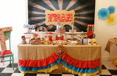Vintage Circus Party via Kara's Party Ideas KarasPartyIdeas.com #CircusParty #VintageCircus #PartyIdeas #PartySupplies (6)