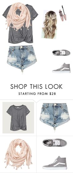 """""""School style."""" by jess-k-vdh ❤ liked on Polyvore featuring Abercrombie & Fitch, One Teaspoon, Vans and Maybelline"""