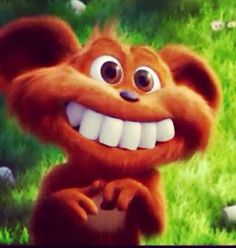 Those aren't the bear's teeth. THERE MARSHMALLOWS! I know because I've seen the Lorax kids movie before!