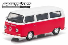 Brand: Greenlight Make: Volkswagen Model: Type 2 Bus Colour: Red/White Series: Club V-Dub Series 1 Age: Scale: Volkswagen Type 2, Red Cloud, Vintage Cars, Diecast, Van, Clouds, Vehicles, Scale, Chrome