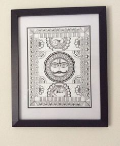 A personal favorite from my Etsy shop https://www.etsy.com/listing/266777533/madhubani-painting