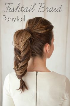 diy fishtail braid ponytail