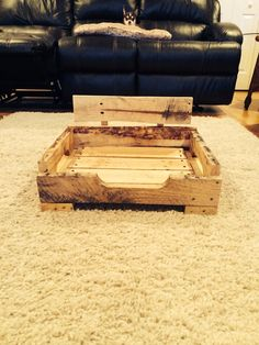 I could make this! Pallet/Reclaimed Wood Dog Bed, Custom Made on Etsy, $60.00