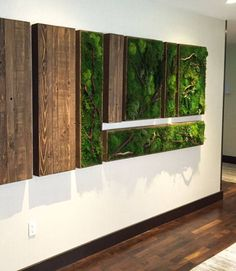 Bring the Natural Beauty of Moss Walls & Moss Art to your home or business. Shop online or let us customize a design just for you. Moss Wall Art, Moss Art, Art Mural Vert, Wall Design, House Design, Vertical Garden Wall, Vertical Gardens, Green Wall Art, Plant Wall