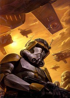 Commander Cody in Phase II Battle Armour on Sarrish /by ?? #starwars #art