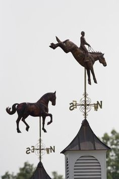 Three Day Eventer Horse Weather Vane and Standing Horse