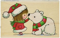 Penny Black 459879 Snow Kiss Mounted Rubber Stamp 25 by 4Inch
