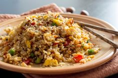 Healthy Fried Rice Recipe - Clean Eating And Simple To Prepare Rice Recipes, Asian Recipes, Cooking Recipes, Healthy Recipes, Ethnic Recipes, Cooking Hacks, Arroz Frito, Panda Express Fried Rice, Healthy Fried Rice