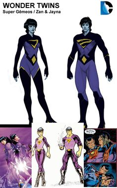 Wonder Twins Dc Comics Superheroes, Dc Comics Characters, Dc Comics Art, Marvel Dc Comics, Comic Manga, Anime Manga, Dc Comics Action Figures, Wonder Twins, Super Hero Costumes