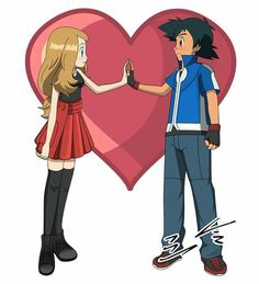Serena and Ash - AmourShipping