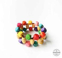 Bracelet perlé bricolage bijoux Craft For Kids - Diy Crafts Jewelry, Kids Jewelry, Resin Jewelry, Jewellery, Diy Bracelets Easy, Beaded Bracelets, Bangles, Fun Crafts For Kids, Crafts To Make