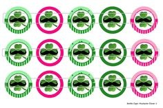 15 Mustache Clovers 1 Digital Download for 1 Bottle by MaddieZee, $1.25