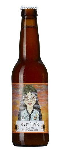 Cerveja K:rlek Höst/Vinter 2012, estilo American Pale Ale, produzida por Mikkeller, Dinamarca. 6.2% ABV de álcool.