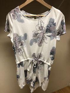 da880ffba7 Asos Romper White Gray Floral Size 8 Drawstring Waist  fashion  clothing   shoes