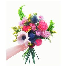 "This Valentine's Day we present to you ""The Kween"" - packed with playful pom pom ranunculus, pink-tipped roses, violet thistles, fluffy golden rod, and stunning anemones - she's the perfect bouquet to celebrate your lover, your mother, and all of the kweens in your life.  Now accepting pre-orders (link in bio)! #valentinesday #brooklynflowers #brooklynflorist #valentinesbouquet"