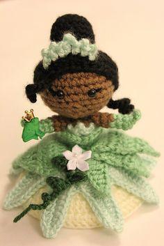 Ravelry: Tiana Princess and The Frog Amigurumi Pattern Crochet doll pattern by Sahrit Freud-Weinstein