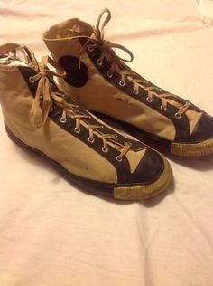 1920-30's Joe Lapchick Model Basketball Shoes. Most impressive is ...