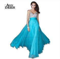 2016 Anne Deer A-Line Gown Evening Skirts, Formal Evening Dresses, Evening Gowns, Strapless Dress Formal, Prom Dresses 2016, Beaded Chiffon, Dress Robes, A Line Gown, Party Dress