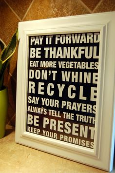 Kitchen+Art+Family+Rules+Typography++Housewarming+by+karimachal,+$15.00