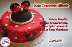 Sweet Cucas and Cupcakes by Rosângela Rolim: Bolo Decorado Minnie Mouse