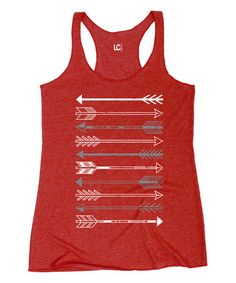 Look what I found on #zulily! Red Stacked Arrows Racerback Tank #zulilyfinds