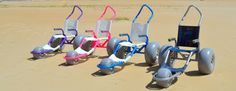 Sand Rider Beach Wheelchairs. Don't let your fun stop where the pavement ends