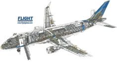 Embraer 170 cutaway drawing
