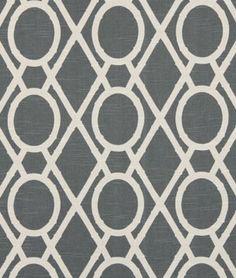 Robert Allen @ Home Lattice Bamboo Greystone Fabric
