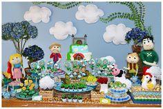 João e o Pé de Feijão! Jack and The Beanstalk - mesa principal da festa infantil.