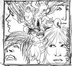 "Klaus Voormann's sketch for ""Revolver"" by the Beatles - M̲elt"