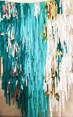 Your place to buy and sell all things handmade 30th Birthday Party Themes, Birthday Backdrop, Birthday Decorations, Frozen Party Backdrop, Streamer Backdrop, Party Streamers, Crepe Paper Backdrop, Tablecloth Backdrop, Ribbon Backdrop