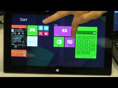 Microsoft research demos interactive live tiles.