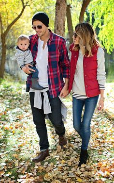 fall // pops of red. Family style