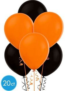 Our Orange and Black Halloween Latex Balloons come as a festive assortment. Mix and match with our solid and foil balloons to fit any occasion. Package includes 15 assorted latex balloons each measuring up to diameter when inflated. Halloween Plates, Halloween Balloons, Halloween Party Supplies, Halloween Party Decor, Halloween Ideas, Modern Halloween, First Halloween, Halloween Trick Or Treat, Halloween Dance